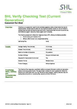 Verify Checking Test