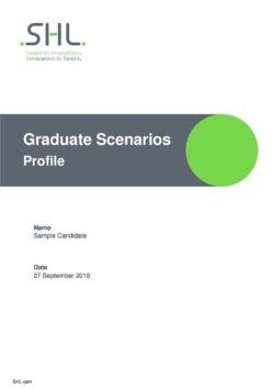 SHL Graduate Scenarios Profile